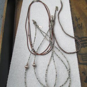lot of 3 necklace beaded Silpada Peyote bird